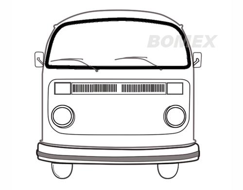 Frontscheibendichtung, ohne Nut, Top Qualität, Bus T2, 8.67-7.79