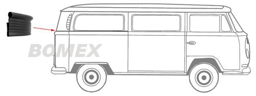 Keder, Abdeckung, Seitenteil, Bus T2/T3