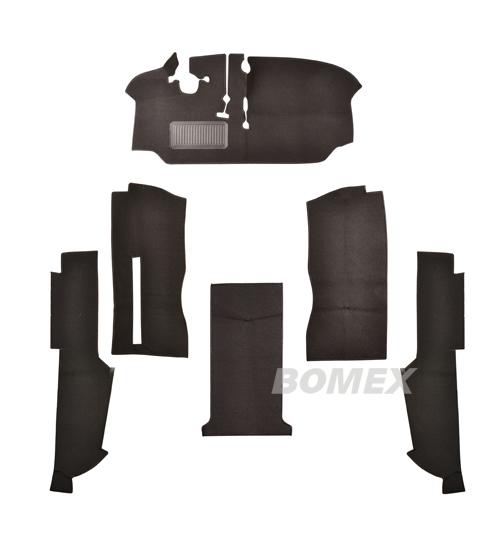 Teppichsatz, Fahrerkabine, schwarz, Bus T2, 8.72-7.79